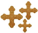 Hand-embroidered crosses - D139