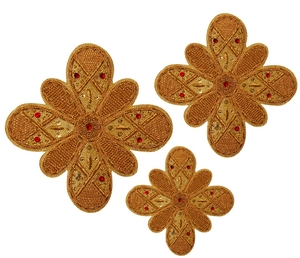Hand-embroidered crosses - D140