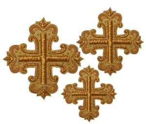 Hand-embroidered crosses - D141