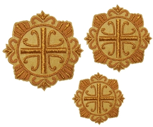 Hand-embroidered crosses - D143