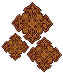Hand-embroidered crosses - D145