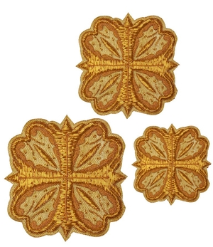 Hand-embroidered crosses - D147