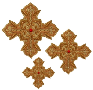 Hand-embroidered crosses - D151