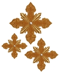 Hand-embroidered crosses - D154