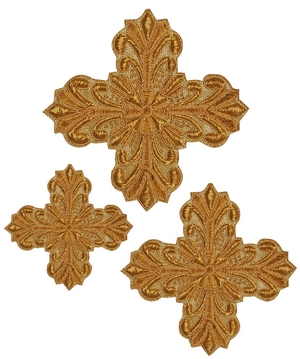 Hand-embroidered crosses - D155