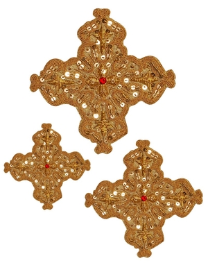 Hand-embroidered crosses - D156