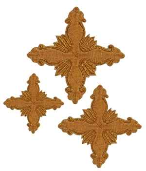 Hand-embroidered crosses - D157