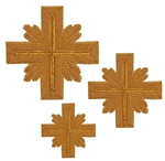 Hand-embroidered crosses - D158