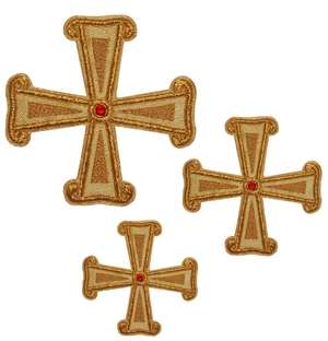 Hand-embroidered crosses - D160