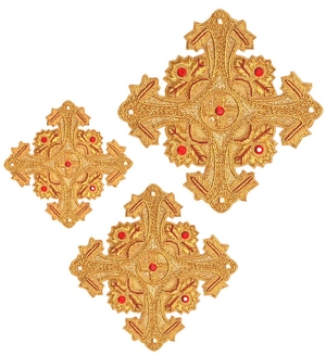 Hand-embroidered crosses - D161