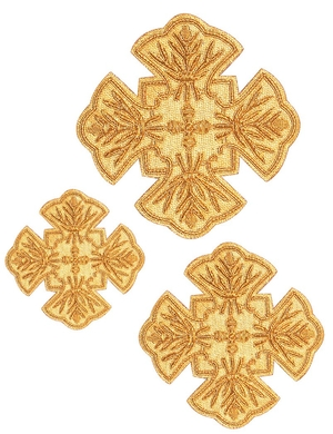 Hand-embroidered crosses - D162