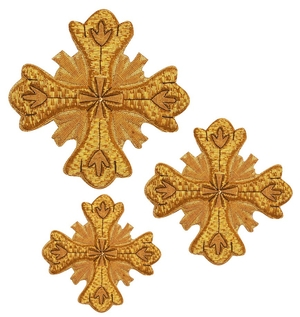 Hand-embroidered crosses - D163