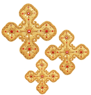 Hand-embroidered crosses - D164