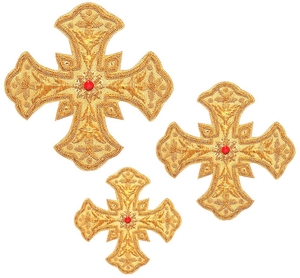 Hand-embroidered crosses - D165