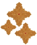 Hand-embroidered crosses - D166