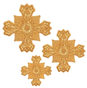 Hand-embroidered crosses - D167