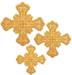 Hand-embroidered crosses - D168