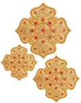 Hand-embroidered crosses - D169