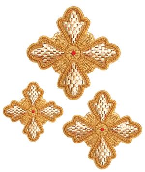 Hand-embroidered crosses - D170
