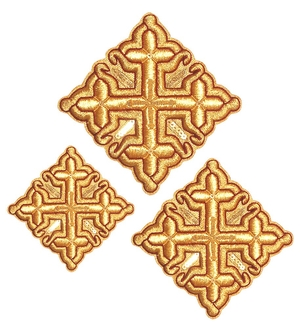 Hand-embroidered crosses - D172