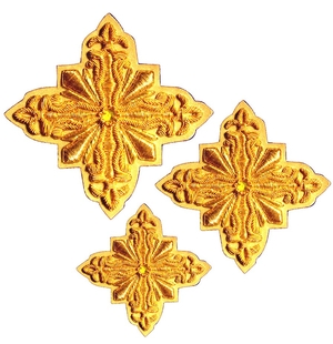 Hand-embroidered crosses - D174
