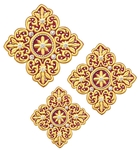Hand-embroidered crosses - D175