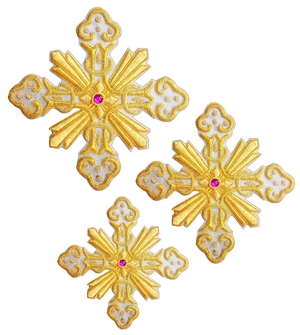 Hand-embroidered crosses - D176