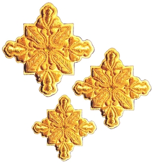 Hand-embroidered crosses - D178