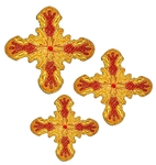 Hand-embroidered crosses - D181