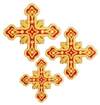 Hand-embroidered crosses - D185