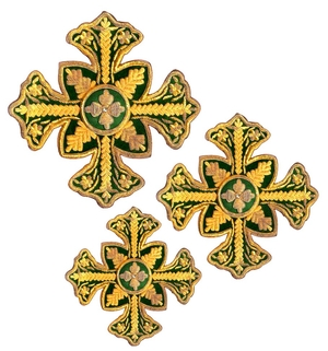 Hand-embroidered crosses - D188