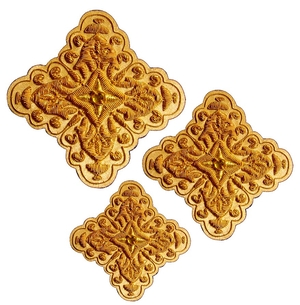 Hand-embroidered crosses - D193