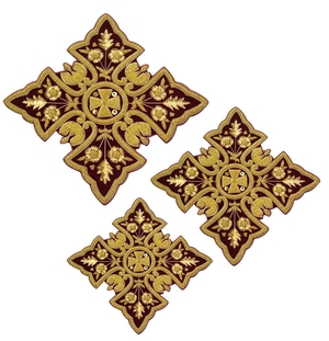 Hand-embroidered crosses - D194