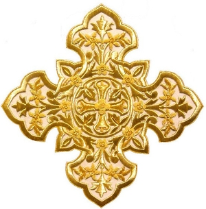 Hand-embroidered crosses - I-040