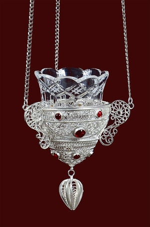 Vigil lamps: Filigree oil lamp no.3-4
