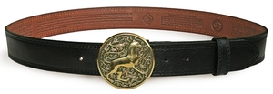 Orthodox leather belt - Panther