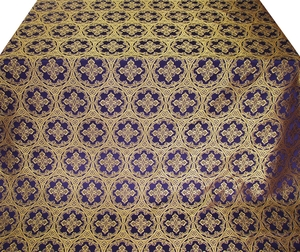 Oubrous metallic brocade (violet/gold)