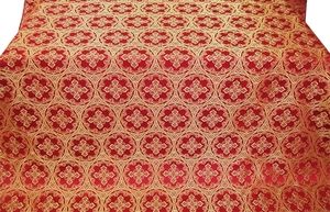 Oubrous metallic brocade (red/gold)