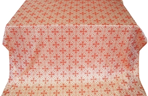 Polish Cross metallic brocade (white/gold/red)