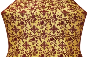 Velvet Rose metallic brocade (claret/gold)