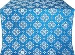 Kostroma silk (rayon brocade) (blue/silver)