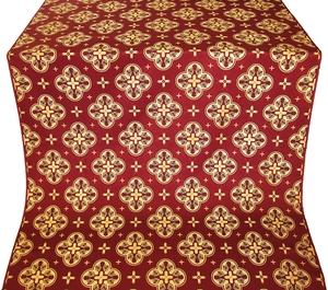 Kostroma claret/gold rayon brocade