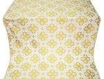 Kostroma silk (rayon brocade) (white/gold)