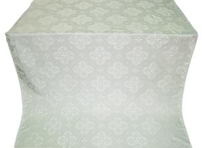 Kostroma silk (rayon brocade) (white/silver)