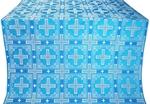Iveron silk (rayon brocade) (blue/silver)