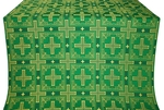Iveron silk (rayon brocade) (green/gold)