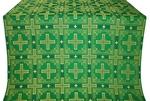 Iveron silk (rayon brocade) (green/gold)