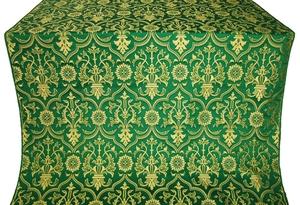 Prestol silk (rayon brocade) (green/gold)
