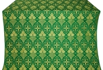 Vine silk (rayon brocade) (green/gold)