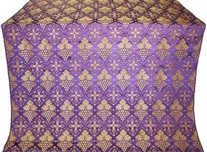 Vine silk (rayon brocade) (violet/gold)